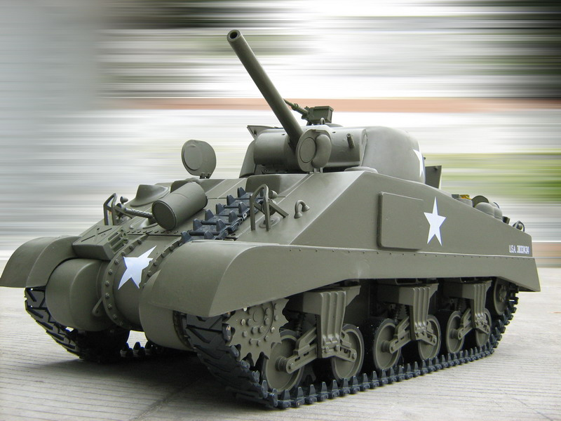 1/6 Scale M4 Sherman RC Tank(Electric Powered)