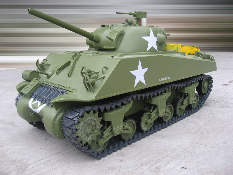 1/6 Scale M4A3 Sherman RC Tank - 75mm Gun(Gas Powered)