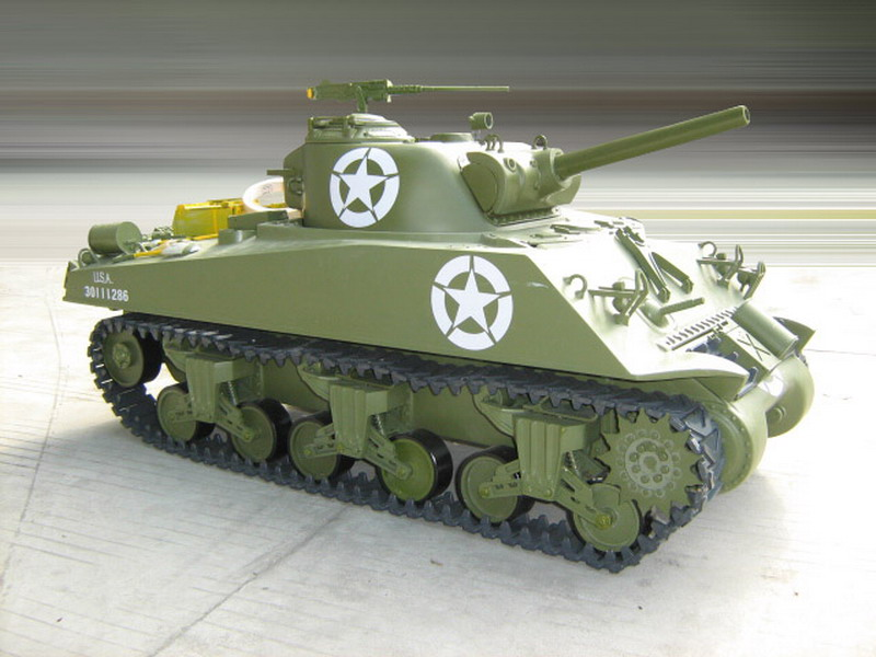 1/6 Scale M4A3 Sherman RC Tank - 105mm Howitzer(Gas Powered)