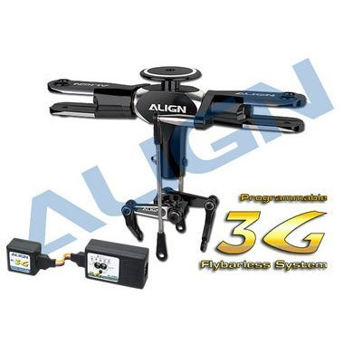 600 3G PROG FLYBARLESS SYSTEM/BLACK WITHOUT BLADES