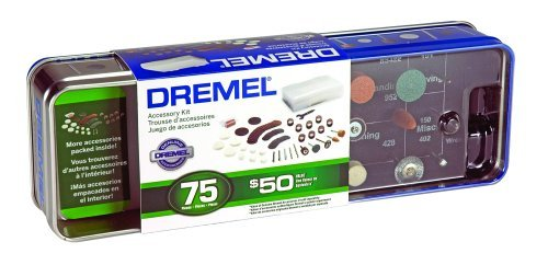 Dremel 707-01 75-Piece Accessory Tin Can Kit