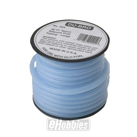 "DuBro 204 1/8"" x 30' Large Super Blue Silicone Tubing"