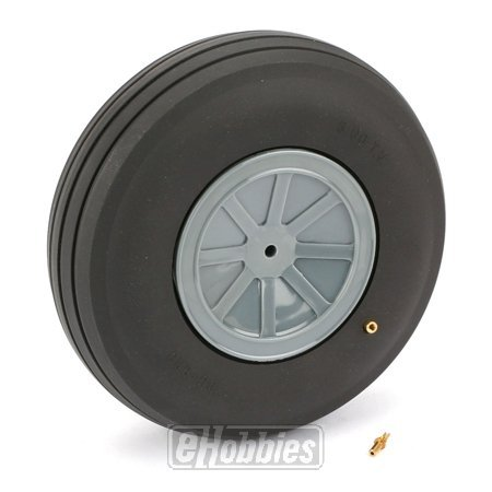 "DuBro 600TV 6"" Diameter Large Scale Treaded Wheel"