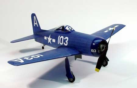 F-8F2 Bearcat Wooden Model Airplane by Dumas