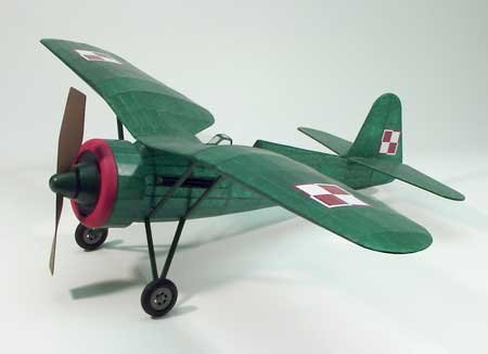 PZL P11c Wooden Model Airplane Dumas