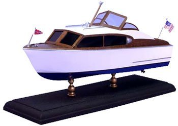 "12"" 1956 Chris Craft 24' Sedan Boat Laser Cut Kit (1/24 Scale) D"