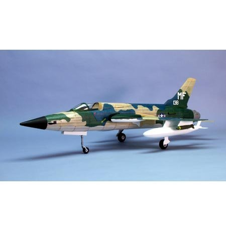 F-105 Thunderchief Laser-Cut Wooden Model Airplane by Dumas
