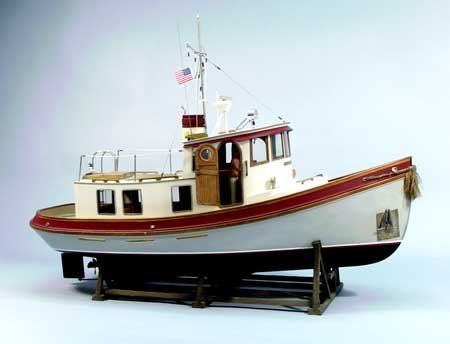 Lord Nelson Victory Tugboat Wooden Boat Kit by Dumas