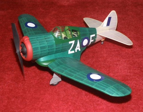 Type 99 VAL Wooden Model Airplane by Dumas