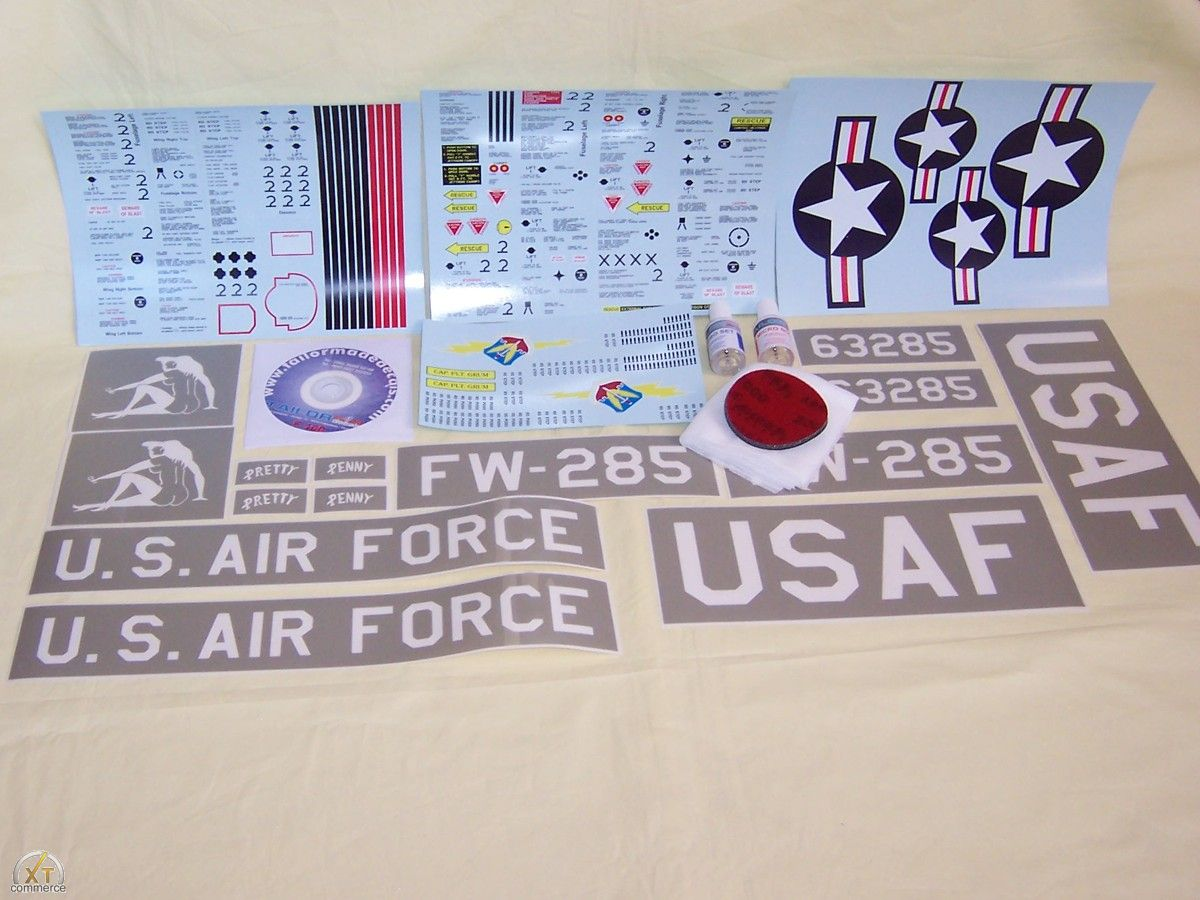 "F-100 Super Sabre decal set ""Natural Metal"""