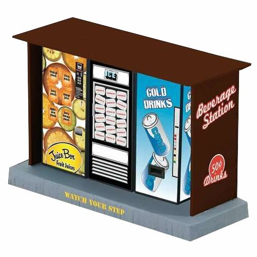 6-22387 KL Kiosk w/3 Illminated Vending Machines
