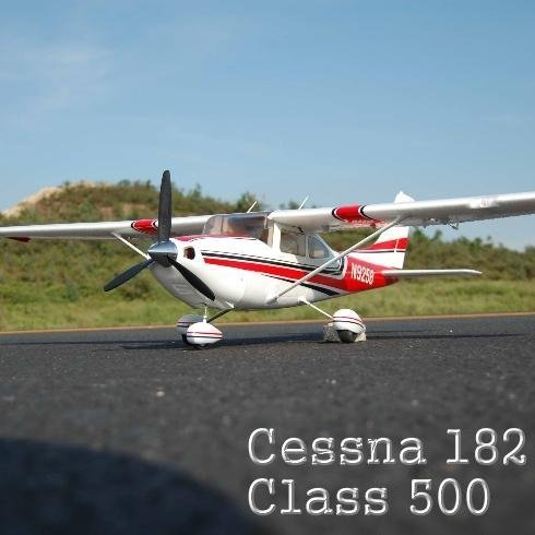 Cessna 182 Airplane ~ Class 500 ~ Remote Control ~ RC ~ Electric