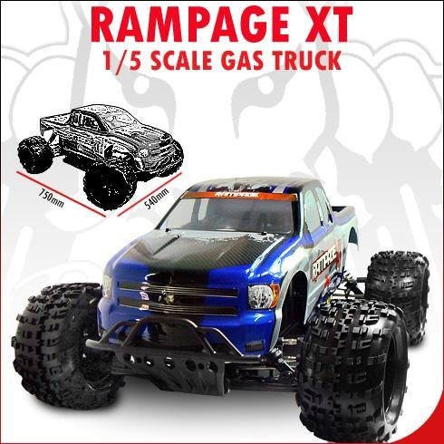 Redcat Racing Rampage XT Blue 1/5 Scale Gas Powered 4 Wheel Driv