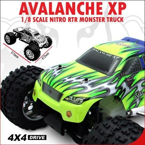 REDCAT RACING ~ RADIO CONTROL ~ 1/8 SCALE ~ AVALANCHE XP NITRO M