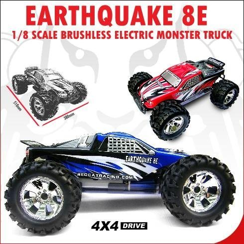Redcat Racing ~ RC ~ EARTHQUAKE 8E ~ 1/8 Scale Brushless Electri