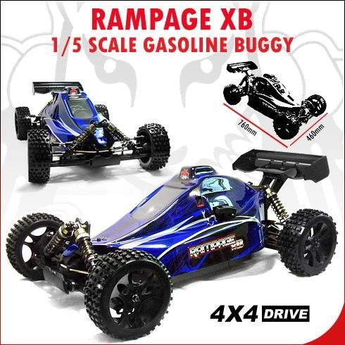 RAMPAGE XB BUGGY ~ 1/5 Scale ~ 30 cc GAS Engine ~ Radio Control