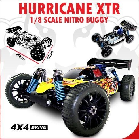 NEW ~ REDCAT RACING ~ RC HURRICANE XTR BUGGY ~ 1/8 NITRO ~ 4X4 ~