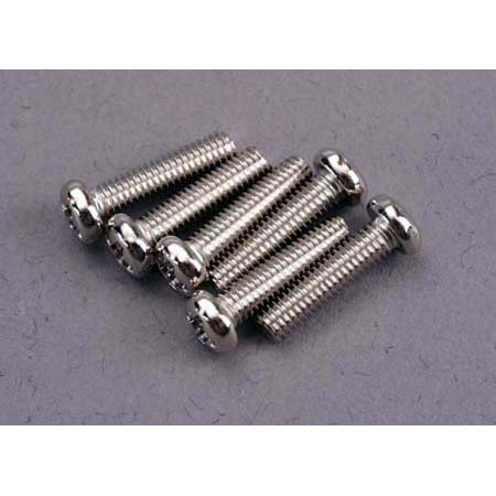 Screws, 3 x 12mm, Roundhead (6)